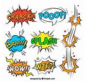 Comic Sound Effects Vector  Free Download