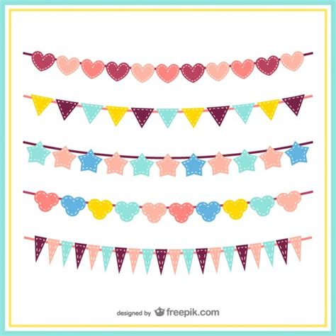 Sale Bunting Flag Hbd Colorful colorful bunting pack vector free