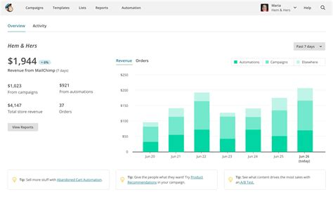 mailchimp ecommerce templates caign reports and performance tracking