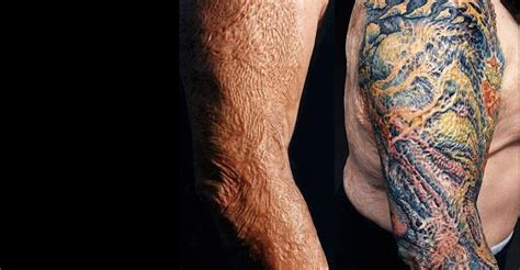 can tattoos cover scars the firefighter who got a his skin graft the