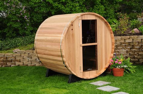 Outdoor Steam Room Kits - new indoor outdoor barrel sauna kit 4 person free shipping sauna kits saunas ebay