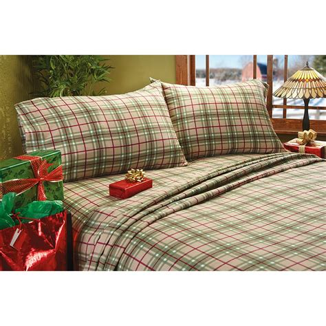 plaid bed sheets braeden plaid flannel sheet set 209128 sheets at