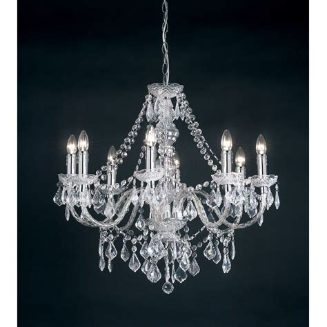 Ceiling Chandeliers Endon 308 8cl 8 Light Traditional Chandelier Ceiling