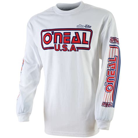 retro motocross jersey oneal ultra lite 85 mx sleeve t shirt enduro cotton