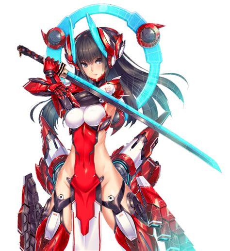 anime mecha mecha girl lightning bolt render by assassinwarrior