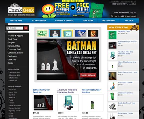 Sites Like Thinkgeek by 28 Sites Like Thinkgeek 10 Sites Like Thinkgeek To