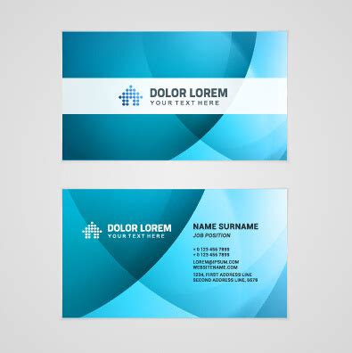 business card set template template company business cards set vector free vector in