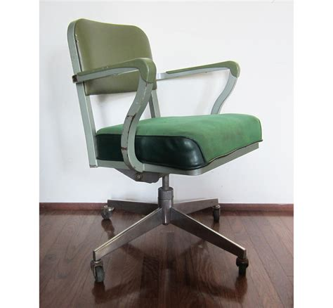 Vintage Steelcase Green Rolling Computer Office Chair Steelcase Desk Chair