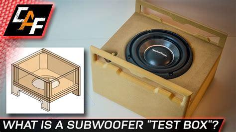 build  subwoofer test box  bass
