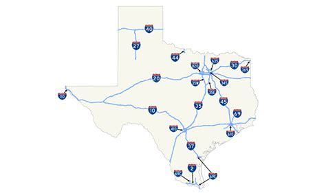 texas freeway map list of interstate highways in texas