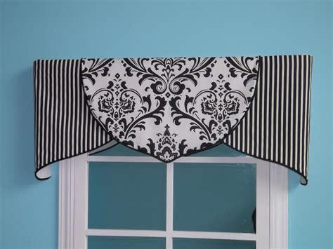 black and white valance curtains order only black white damask tulip valance customize ebay