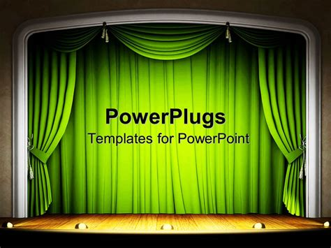 Powerpoint Template Stage With Green Curtains Wood Floor And Lights Theater Performances 11161 Microsoft Powerpoint Templates Theatre