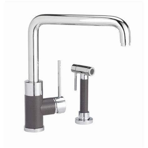 blanco kitchen faucet shop blanco purus i cafe brown mix 1 handle deck mount high arc kitchen faucet at lowes