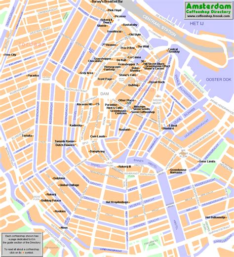 netherlands coffeeshop map amsterdam map coffeeshops with information best guide