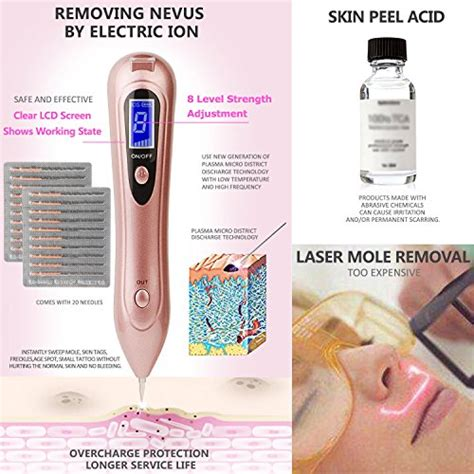 tattoo removal kit mole removal pen bdsii portable usb rechargeable skin tag
