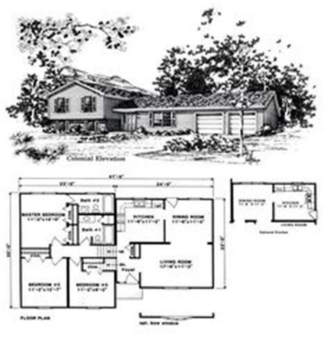 Split Level Floor Plans 1970 Split Level House Plans Three Bedroom Split Level Hwbdo67425 Split Level House Plan From