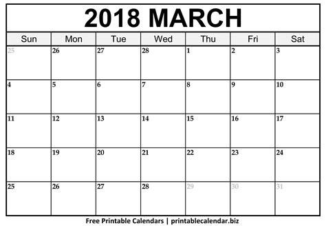 printable calendar 2018 horizontal march 2018 calendar printablecalendar biz