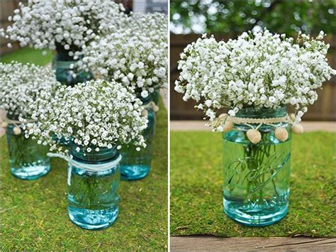 do it yourself wedding centerpieces with jars do it yourself babys breath arrangement