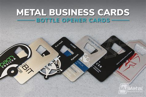 Bottle Opener Business Cards