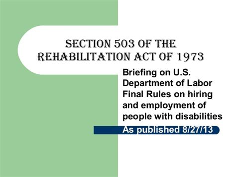 section 7 of the 1973 rehabilitation act section 504 is part of the federal rehabilitation act of