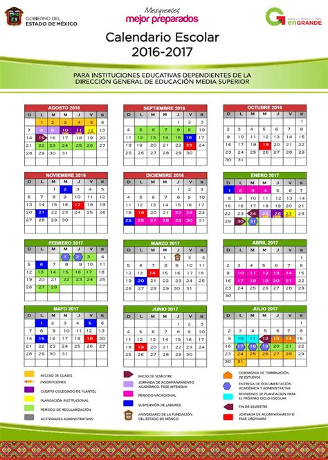calendario escolar 2016 2017 mexico preparatoria oficial anexa a la normal de naucalpan