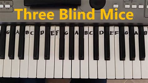 three easy to be how to play three blind mice easy piano keyboard tutorial