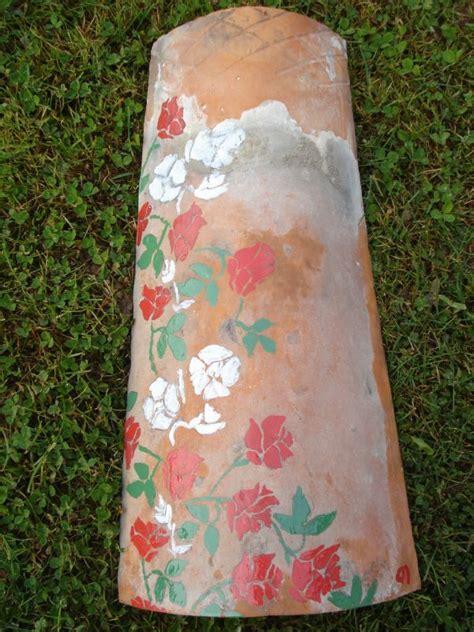 peinture tuile ciment tuiles peintes peinture sur tuiles 1 calinquette