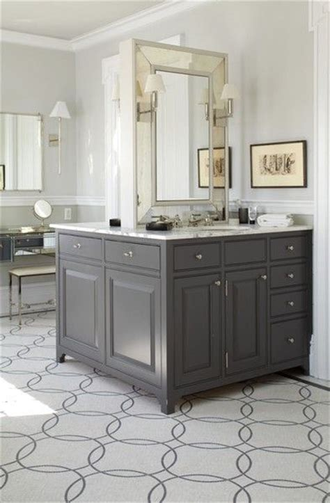 gray bathroom mirror 1000 ideas about grey bathroom cabinets on pinterest