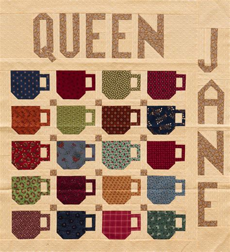Coffee Quilt Pattern freebie warm up with a coffee cup quilt block pattern