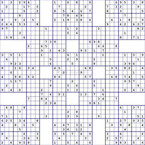 printable big sudoku puzzles related keywords suggestions for large samurai sudoku