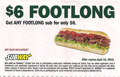 printable subway coupons print subway coupons for 2017 subway coupons