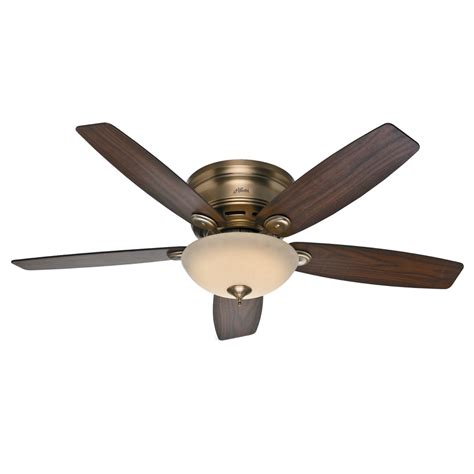lowes low profile ceiling fans shop hunter low profile iv 52 in brushed bronze flush