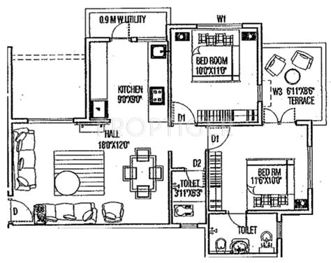 950 sq ft 950 sq ft 2 bhk 2t apartment for sale in karda