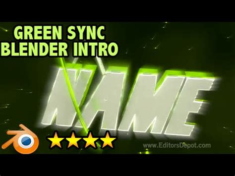 tutorial blender intro epic green sync blender only 3d intro template with