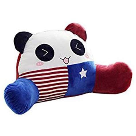 reading pillow with arms spectacular bed rest plush amazon com mlotus cute panda child bedrest lounger plush