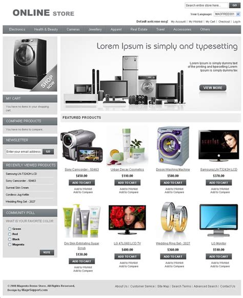 free html shop template template magento template cms