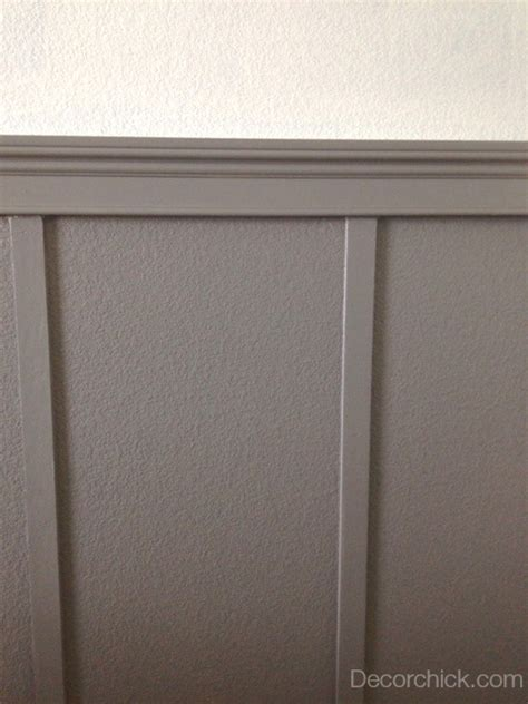Gray Wainscoting white molding is pretty but this is even better decorchick