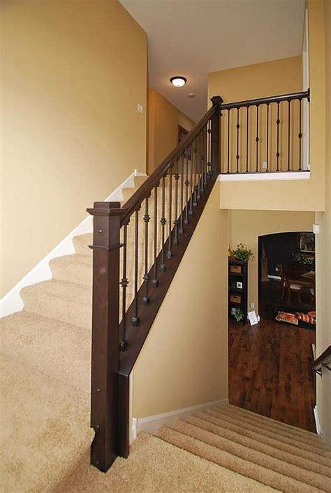 dark wood banister 1000 images about staircase wall on pinterest wood handrail stairs and iron railings