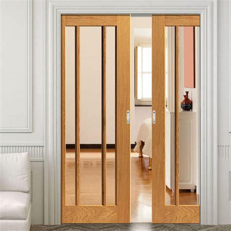 What Is A Pocket Door by River Oak Darwen Pocket Doors Clear Glass