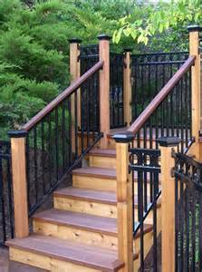 Iron Handrails Exterior Homepage Stair Solution