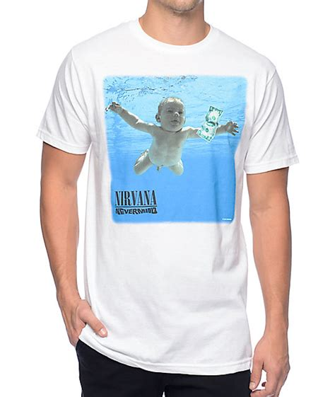 nirvana nevermind white t shirt at zumiez pdp
