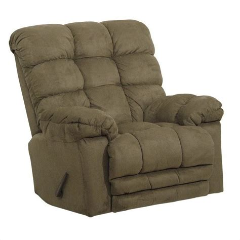 recliner rockers chairs catnapper magnum chaise rocker recliner chair in sage