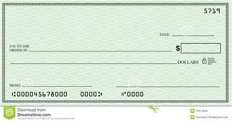 open check blank check with open space for your text royalty free