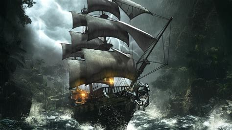 themes in the black pearl high resolution pirate ship wallpaper 1080p siwallpaperhd