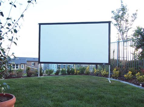 Backyard Projector Screen by Elite Screens Outdoor Projector Screen At Just Projectors