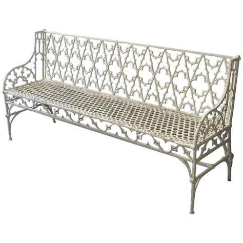 large outdoor bench large french val d osne cast iron garden bench at 1stdibs