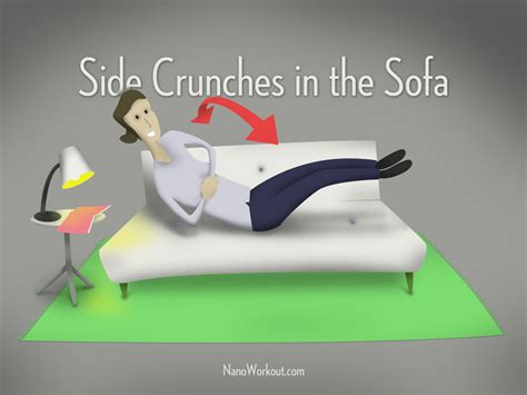 exercises to do on the couch side crunches in the sofa