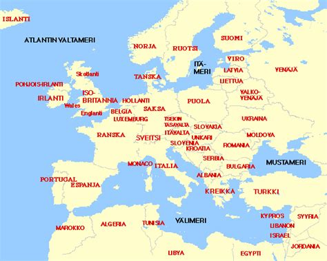 europe map with country names map of europe with just country names 28 images