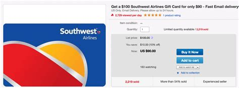 Discounted Gift Cards For Sale - save more on the southwest sale with this 10 gift card discount