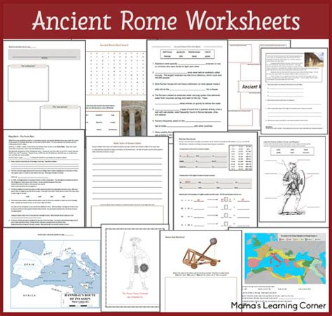 ancient rome worksheets ancient rome worksheets mamas learning corner